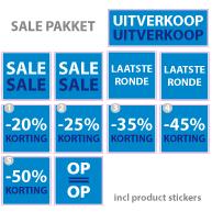 Pakket stickers PAK-01 Blauw