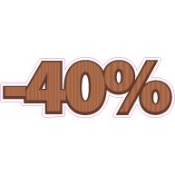 Raamsticker chocola korting VA-0090