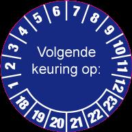 Keuringssticker KS-002