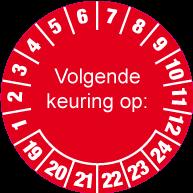 Keuringssticker KS-001