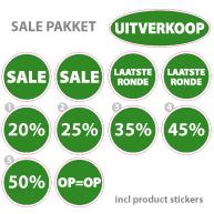 Pakket stickers PAK-03 Groen