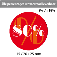 productstickers korting rond STV-014