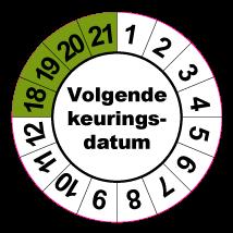 Keuringssticker KS-004