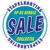 Etalagesticker sale winter blauw 1 artikel STA-110