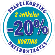Etalagesticker stapelkorting winter blauw 2 artikel STA-113