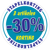Etalagesticker stapelkorting winter blauw 3 artikel STA-114