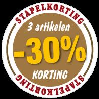 Etalagesticker stapelkorting herfst bruin 3 artikel STA-38
