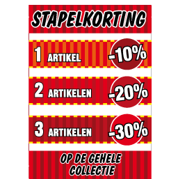 Poster stapelkorting sale rood STA-13