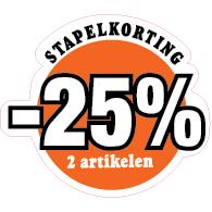 Etalagesticker stapelkorting zomer oranje 2 artikel STA-89