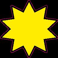 Raamsticker ster ST-005