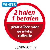 productstickers 2 halen 1 betalen winter STV-037