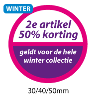 productstickers 2e artikel korting winter STV-033
