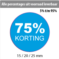 productstickers korting rond STV-013