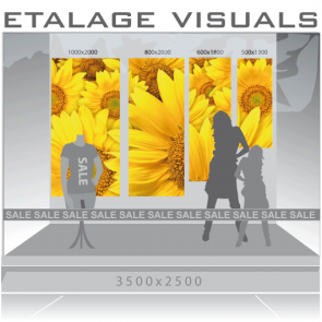 etalage visual zonnebloem VIS-007