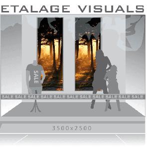 etalage visual donkere bomen VIS-010