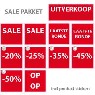 Pakket stickers PAK-01 Rood