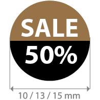 Brilsticker sale percentage rond BR-0001