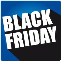 Raamsticker black friday sale vierkant BF-027