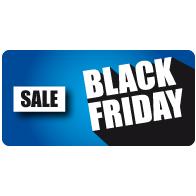 Raamsticker Black Friday sale rechthoek BF-029