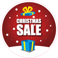 Raamsticker christmas sale rond VA-0106