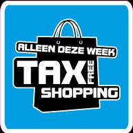 Raamsticker tax free shopping vierkant VI-007