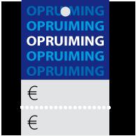 Prijskaartjes opruiming blauw met scheurrand PR-0002