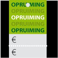 Prijskaartjes opruiming groen met scheurrand PR-0002