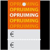 Prijskaartjes opruiming oranje met scheurrand PR-0002