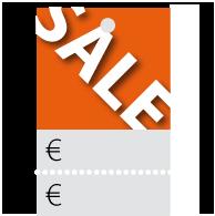 Prijskaartjes Sale oranje met scheurrand PR-0001