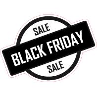 Raamsticker Black Friday rond VA-0103