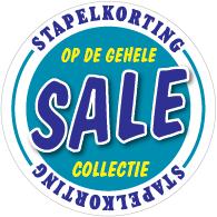 Etalagesticker sale winter blauw 1 artikel STA-110