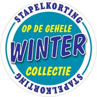 Etalagesticker stapelkorting winter blauw 1 artikel STA-111
