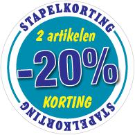 Etalagesticker stapelkorting winter blauw 2 artikel STA-113