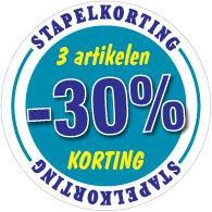 Etalagesticker stapelkorting winter blauw 3 artikel STA-114