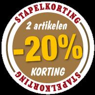 Etalagesticker stapelkorting herfst bruin 1 artikel STA-37