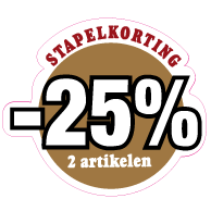 Etalagesticker stapelkorting herfst bruin 2 artikelen variabel STA-31