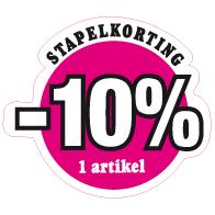 Etalagesticker stapelkorting lente roze 1 artikel STA-50