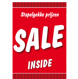 Poster stapelkorting sale rood STA-15
