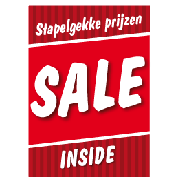 Poster stapelkorting sale rood STA-14