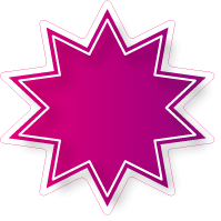 Raamsticker ster ST-006