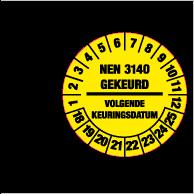 Keuringsstickers op rol SR-040