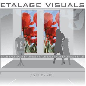 etalage visual tulp VIS-006